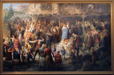 """Откриване на реставрираната  картина на Анастас Стайков, """"Родопска  сватба"""" - Изображение 1"""