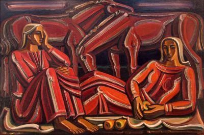 Атанас Яранов - Жени с коне - Художествена галерия - Смолян