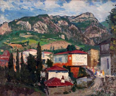 Здравко Александров - Пейзаж от Крим - Художествена галерия - Смолян