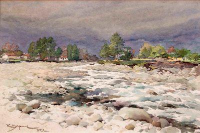 Константин Щъркелов - Река Глазна - Пирин - Художествена галерия - Смолян