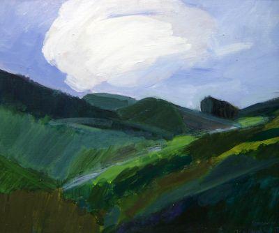 Хосе Партени Пейзаж с облак - Художествена галерия - Смолян