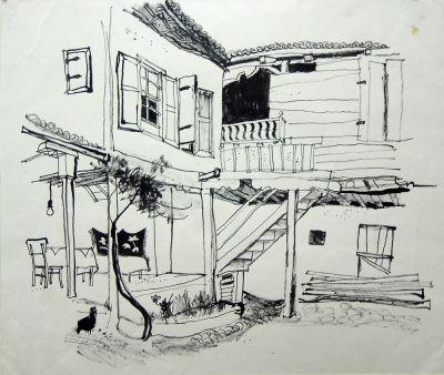 Зидаров Любен -  Златоградски двор - Художествена галерия - Смолян
