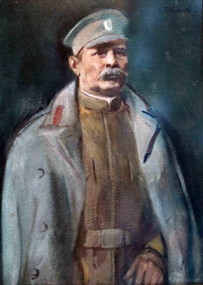 Александър Поплилов - Портрет на полк. Серафимов - Художествена галерия - Смолян
