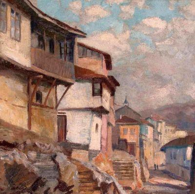 Борис Денев - Улица в Търново - Художествена галерия - Смолян