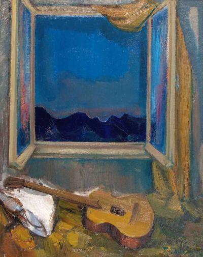 Вълко Гайдаров  - Нощен прозорец - Художествена галерия - Смолян