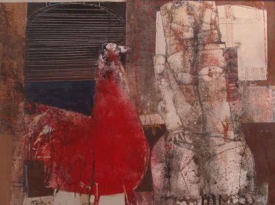 Георги Божилов - Слона  -  Жена с птица - Художествена галерия - Смолян