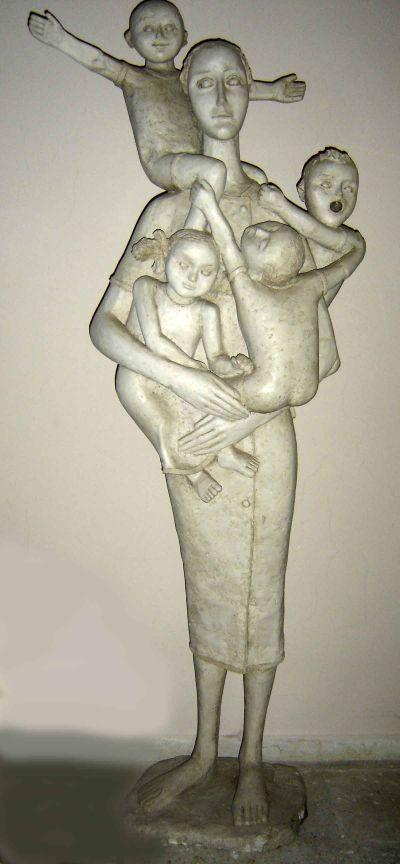 Евтимов Димитър - Жена с деца - Художествена галерия - Смолян