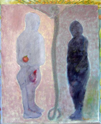Байрам Газанфер  Адама и Ева - Художествена галерия - Смолян