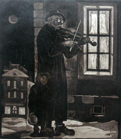 Атанасов Тодор -  Минало , по Христо Смирненски - Художествена галерия - Смолян